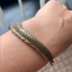 Alex and Ani feather bracelet